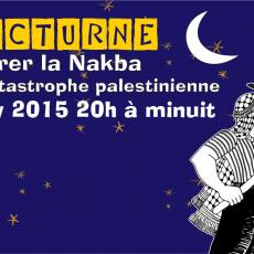 Manif nocturne pour commémorer la Nakba