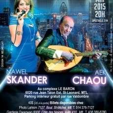 Montréal reçoit Nawel Skender & Abdelkader Chaou