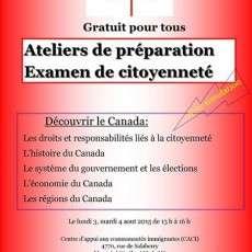 Ateliers de préparation Examen de citoyenneté