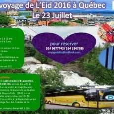 Excursion d'Eid 2016 à la ville Québec