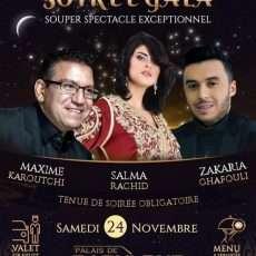 Maxime Karoutchi, Salma Rachid Et Zakaria Ghafouli, Soirée Gala