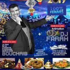 Soirée du réveillon 100% femmes avec Bouchaib et DJ Farah!