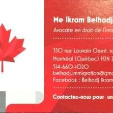 Me Ikram Belhadj, Avocate en immigration